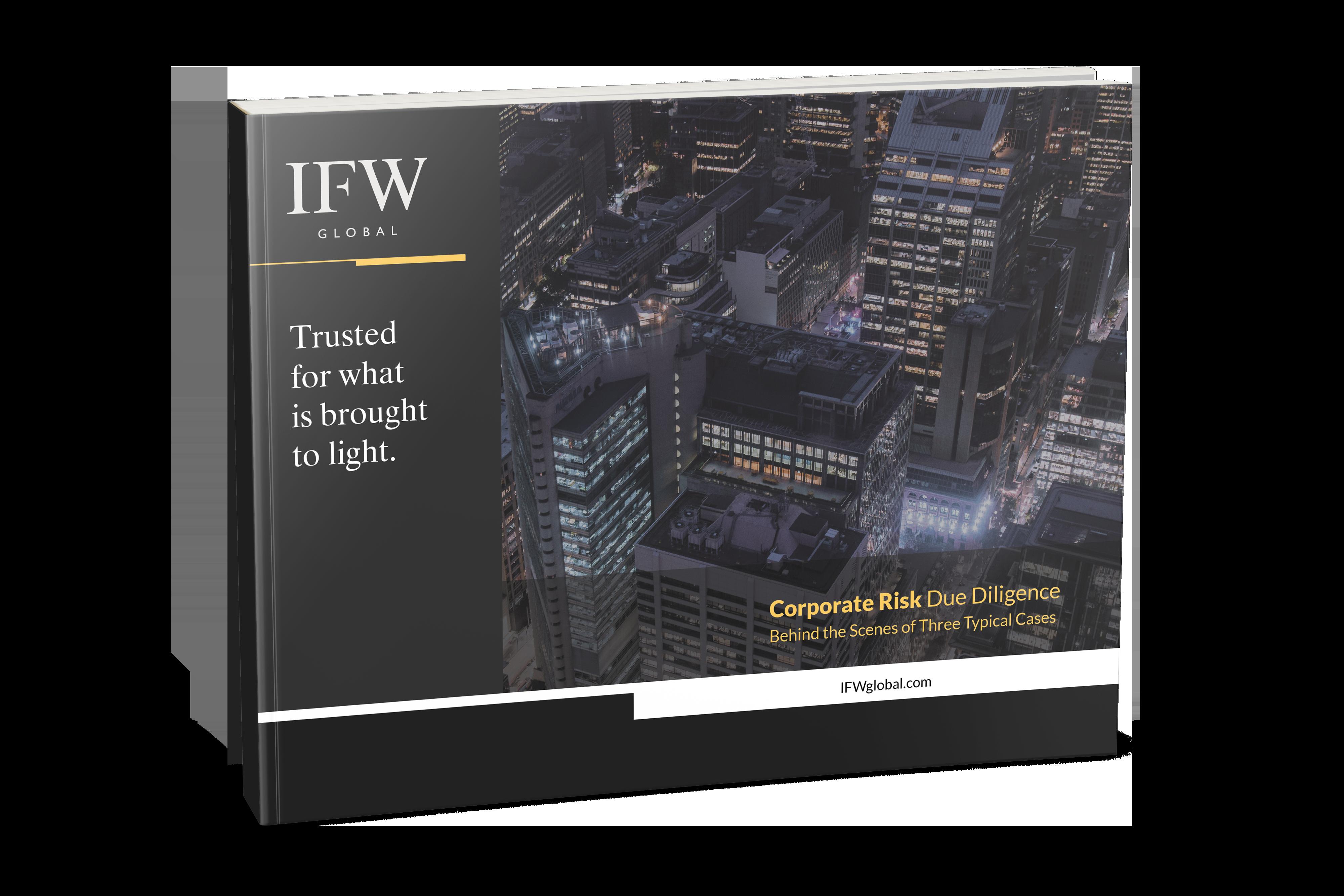 Corporate Risk Due Diligence eBook Mockup 2